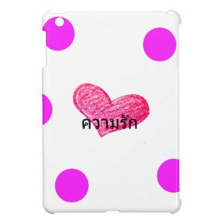 Thailändische Sprache des Liebe-Entwurfs iPad Mini Hülle