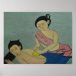 Thailändische traditionelle Massage Plakat