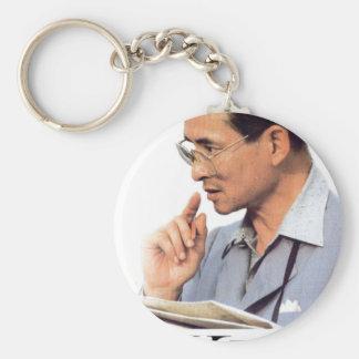 Thailändischer König Bhumibol Adulyadej das große Schlüsselanhänger