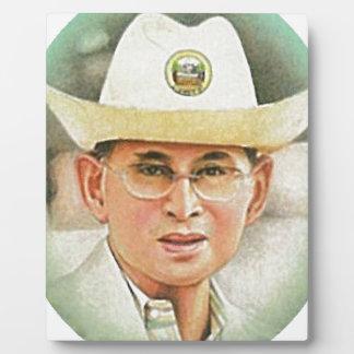 Thailändischer König Bhumibol Adulyadej - Fotoplatte