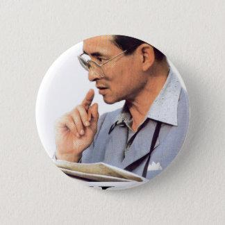 Thailändischer König Bhumibol Adulyadej Runder Button 5,1 Cm