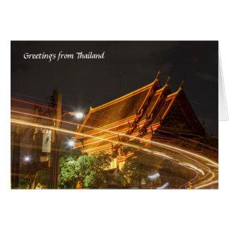 Thailändischer Tempel Karte