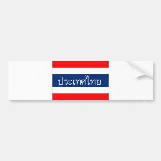 thailändischer Textname des Thailand-Flaggenlandes Autoaufkleber