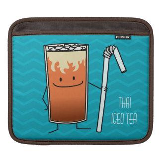Thailändisches Eistee-u. Bendy Stroh-glückliches Sleeve Für iPads