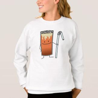 Thailändisches Eistee-u. Bendy Stroh-glückliches Sweatshirt