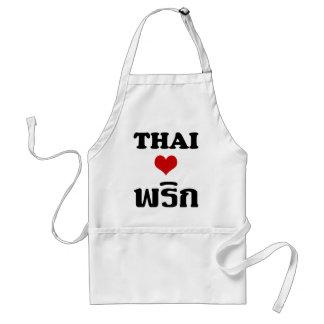 THAILÄNDISCHES LIEBE PHRIK (CHILI) ❤ thailändische Schürze