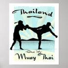 Thailändisches Plakat Thailands Muay