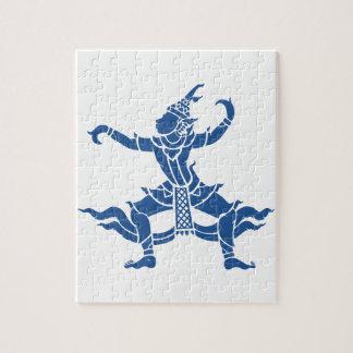 Thailändisches Tänzer ⚠ Thailand-Zeichen ⚠ Puzzle
