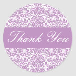 Thank You Damask Envelope Sticker Seal
