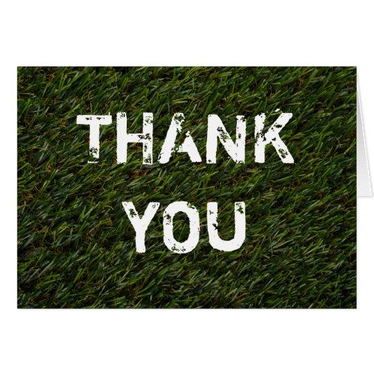 THANK YOU Karte  - Grußkarte - grüner Rasen