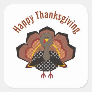 Thankgiving wunderliche die Türkei Aufkleber