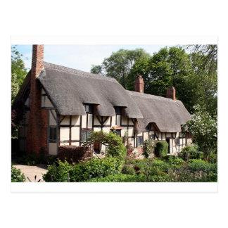 Thatched Hütte, Stratford, England, Großbritannien Postkarte