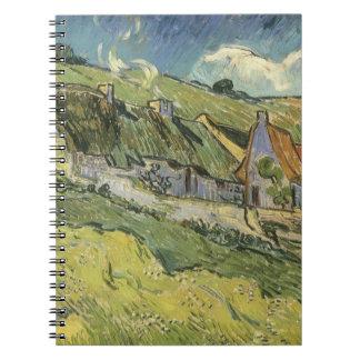 Thatched Hütten durch Vincent van Gogh Spiral Notizblock