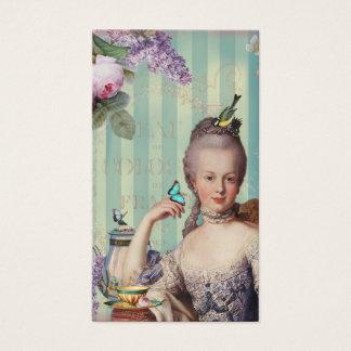 Thé Au kleines Trianon auf Elfenbein mit Teekanne Visitenkarten