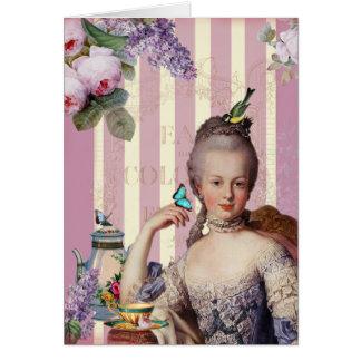 Thé Au Petit Trianon - Rose alles Gute zum Grußkarte