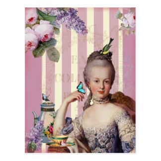 Thé Au Petit Trianon - Rose Postkarte