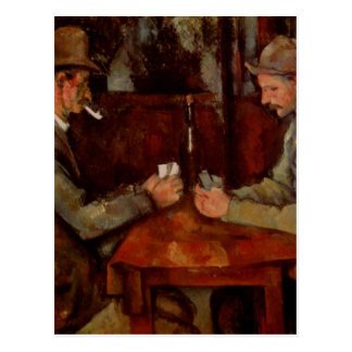 The Card Players, Claude Cezanne, Postkarte