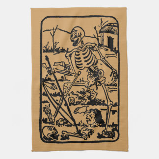 The Death - Old Indian / Asian Tarot Card Handtuch