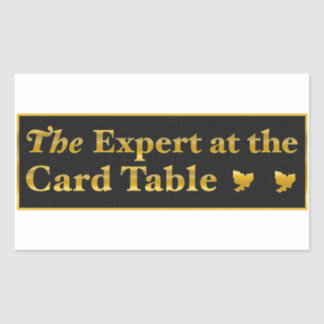 The expert at the card table sticker ,(Black)
