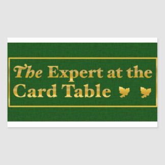 The expert at the card table sticker ,(Green)