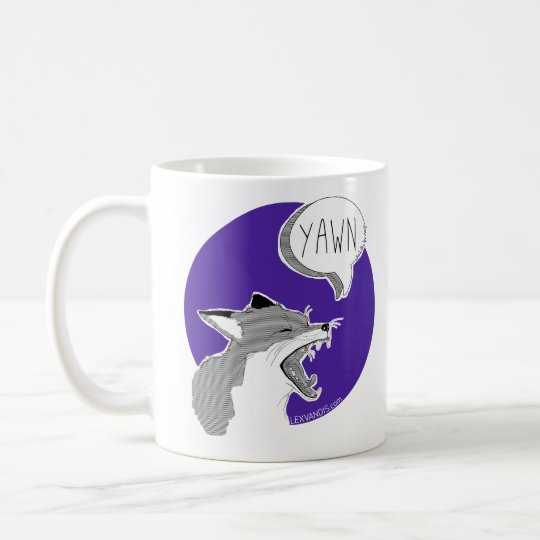 The Fox *Yawn* -Mug purple- Kaffeetasse