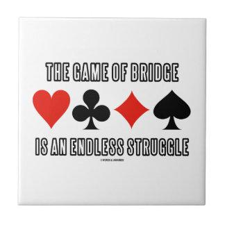 The Game der Brücke ist ein endloser Kampf Fliese