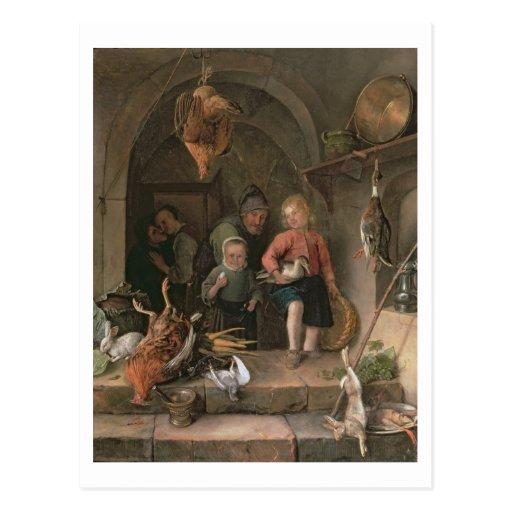 The Game-Speisekammer (Platte) Postkarte