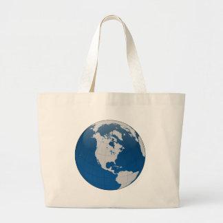 The Globe in einer ruhigen und ruhigen blauen Jumbo Stoffbeutel