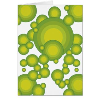 Grüne Blasen Grußkarten