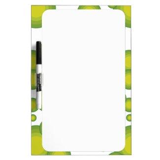 Grüne Blasen Whiteboard