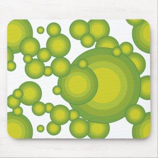 Grüne Blasen Mauspad