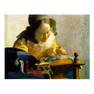 The Lacemaker, Jan Johannes Vermeer, Postkarte