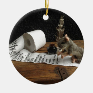 "The Mouse and her ""to do list"" Keramik Ornament"