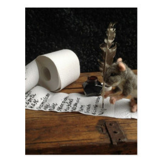 "The Mouse and her ""to do list"" Postkarte"