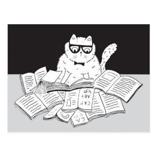 The Nerd Cat Postkarte
