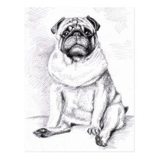 The Pug Postkarte