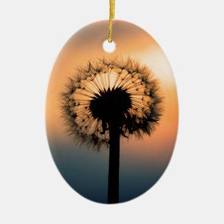 The Sunset and the Fragile Dandelion Keramik Ornament