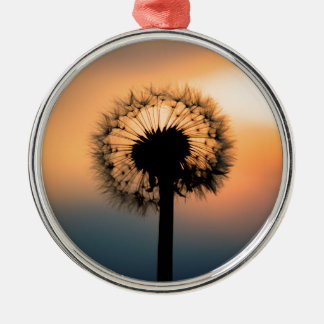 The Sunset and the Fragile Dandelion Silbernes Ornament