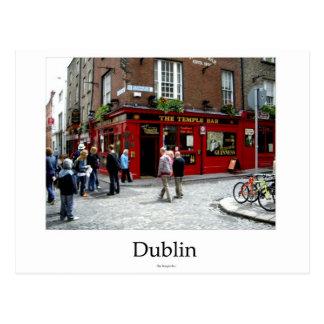The Temple Kneipe, Dublin, Ireland, Postkarte