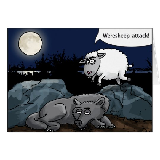the weresheep attacks the wolf karte