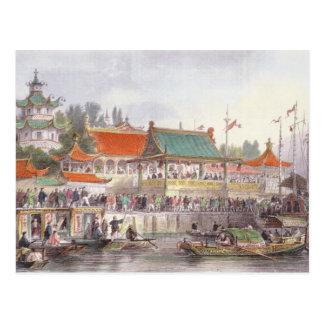 Theater an Tien-Singen, 'von der China in einer Postkarte