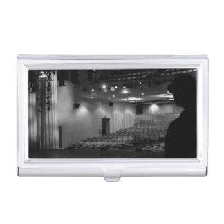Theater-Bühne-Schwarz-weißes Foto Visitenkarten Etui