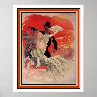 Theater de L'Opera Art Nouveau durch Jules Cheret Poster