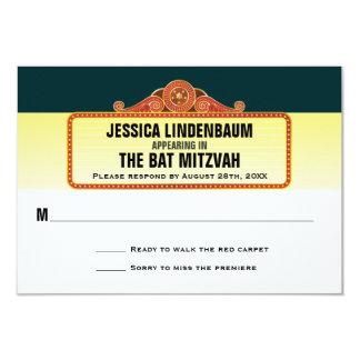 Theater-Festzelt-Bar-Schläger Mitzvah Antwort UAWG 8,9 X 12,7 Cm Einladungskarte