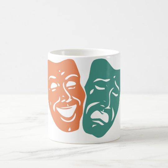 Theater Masken Kaffeetasse