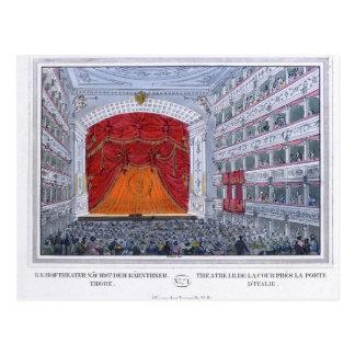 Theater morgens Karntnertor Wien Postkarte