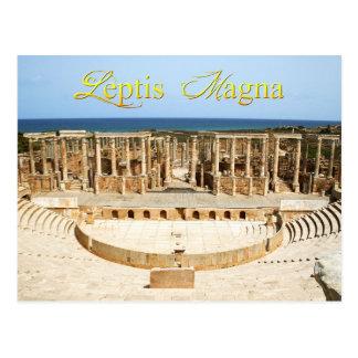 Theater-Ruinen in Leptis Magna, Libyen Postkarte