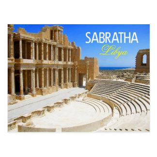 Theater-Ruinen von Sabratha, Libyen Postkarte