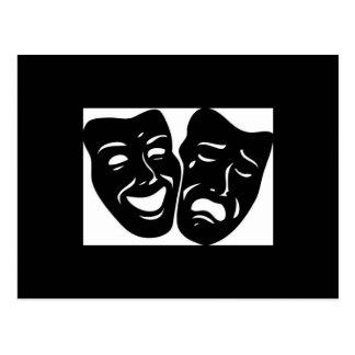 Theater-Symbol Postkarte