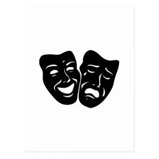 Theater-Symbol Postkarten